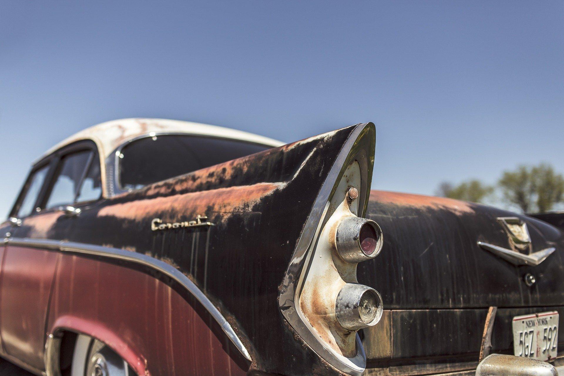coche viejo desguace